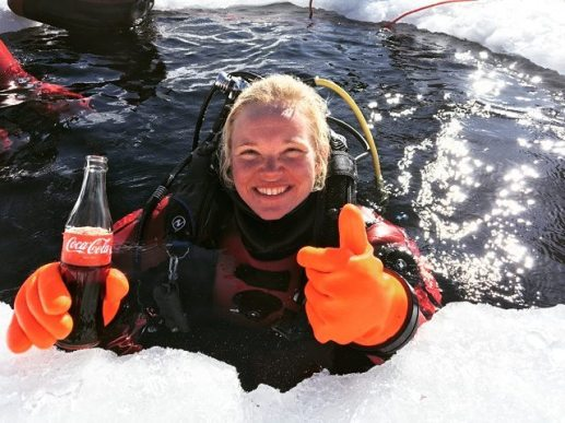 Stephanie koca fn, stephanie koca, koca, koca stephanie, stephanie, ice diving, tignes, val thorens, cold ice